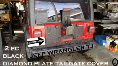 Purchase Jeep Wrangler TJ 2 pc black Diamond Plate Tailgate Cover motorcycle in Elmwood Park, Illinois, United States, for US $69.95
