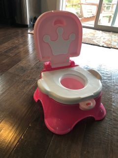 Fisher Price Pink Princess Step Stool Training Potty