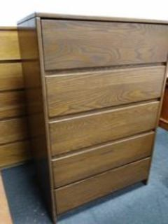 pure wood 5 drawer dresser chest