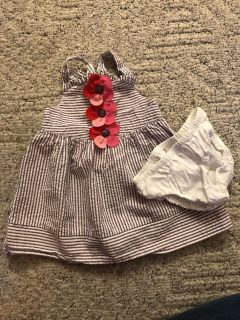 Gymboree 6-12 months dress and diaper cover