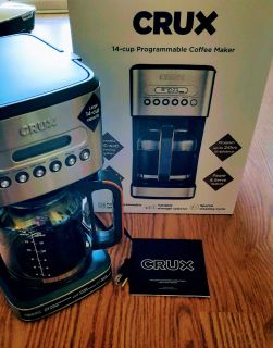 Crux 14 Cup Programmable Coffee Maker (NEW)