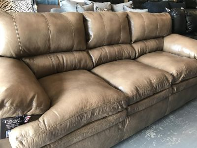 Leather Sofa and Loveseat Set. (New!)