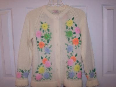 Embroidered Sweater SZ M Hand Finished