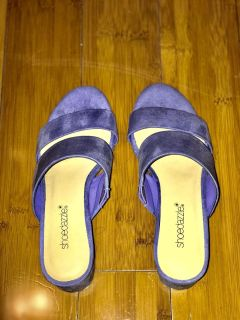 BRAND NEW Lilac Suede Shoedazzle mules