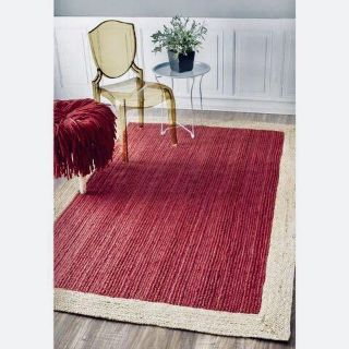 Hand Braided, Eco-Friendly Modern Jute Rug from nuLoom's Natura Collection - 4' x 6'