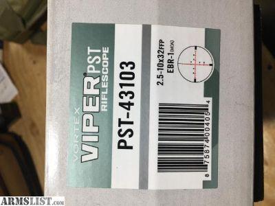 For Sale: Vortex Viper PST 2.5-10x32 MOA