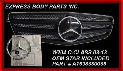Buy W204 2008-2012 C300 C350 C250 GRILL FLAT MATTE BLACK W/CHR STAR MERCEDES 2 BARS motorcycle in North Hollywood, California, US, for US $152.90