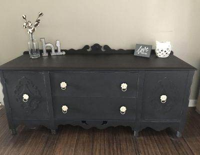 Gorgeous Refinished TV Console/Buffet