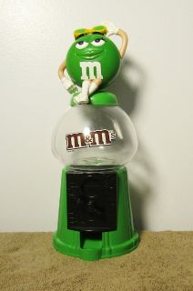 Mars M&M Green Candy Gumball Machine Style Dispenser & Bank 2008
