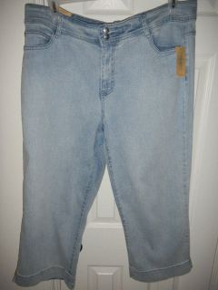 NEW Womens Charter Club Jeans Cropped 18W Classic
