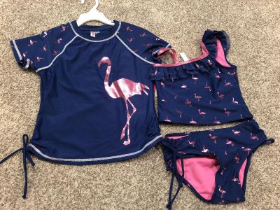 NWT Limited Too 3 piece bathing suit size 7/8