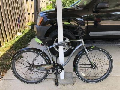 Bike with Front/Rear Lights and Drink Holder