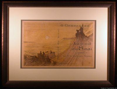 Couverture pour Au Pied Du Sinai Original Lithograph by Toulouse