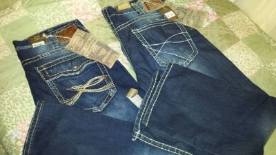 new with tags mens 36x32 silver jeans
