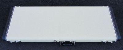 Fender REISSUE 1963 Stratocaster Case - White W/ Orange Satin Interior - BRAND NEW