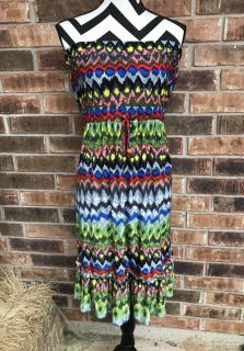 Size XL colorful dress. Worn once! $7