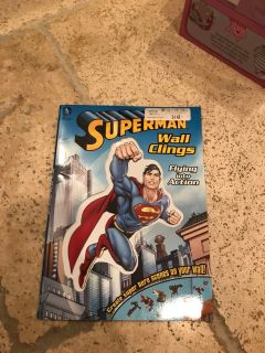Superman book and wall clings
