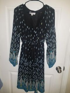 Cute Black and Blue/Teal Dress, tag says maternity but I wore it non maternity!! L/XL