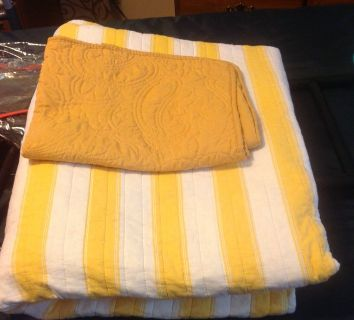 Yellow Striped Quilt
