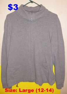 White Stagg Gray Jacket, Juniors Large (12/14). IN PERFECT CONDITION