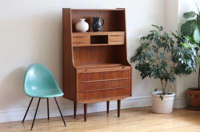 Mid Century Danish Modern Tylvad Hansen Hutch Desk