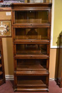 Mission Oak Barrister Bookcase 5 stack high