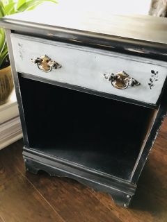 One of a kind unique antiqued side table