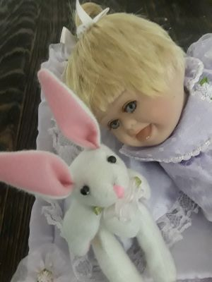 Porcelain Baby Doll 12""