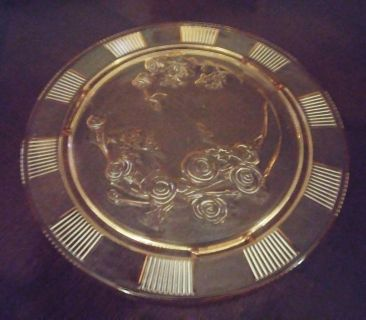 Footed Depression Glass Cake Plate