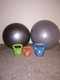 Work out weights snd balls