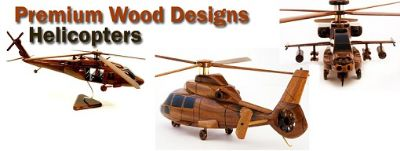 Handcrafted Mahogany Scale Replicas of Classic Motorcycles, Airplanes, Trucks, Etc