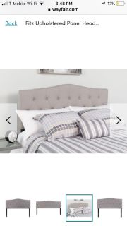 Brand New Grey Headboard (Queen)