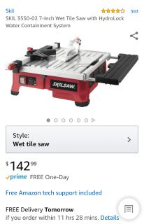 7 inch Wet Tile Saw with 2 Blades