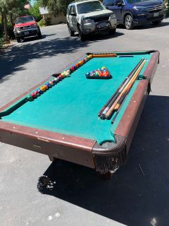 Pool table and accessories - FREE MUST TAKE ALL
