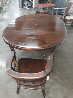 Kitchen table with two captains chairs