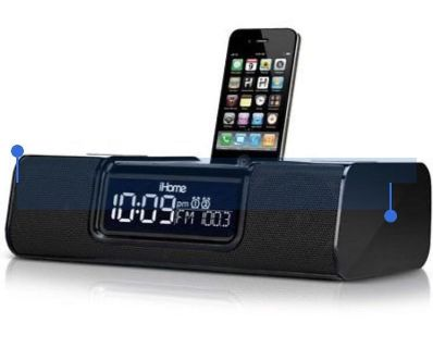 iHome iP9 iPod iPhone 3-in-1 Docking System: Audio, Charger, Alarm Clock ~ Black