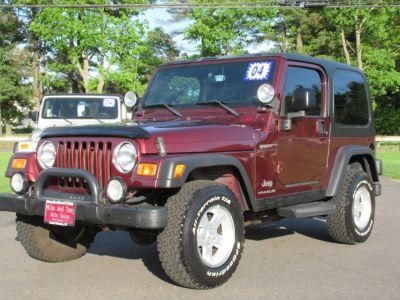 2004 Jeep Wrangler Sport (burgundy)