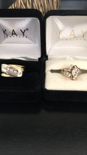 Wedding bands set