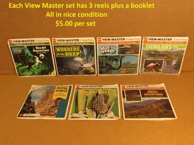 View Master reels. Sets of ViewMaster pictures