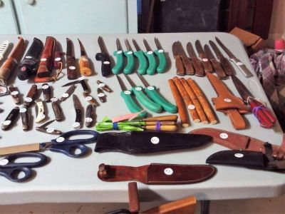 Knives, Lures, Hunting Supplies