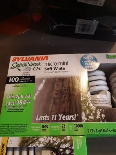 20 - 2pk Sylvania 100 Watt Super Saver CFL Light Bulbs