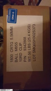 For Sale: 223 ammo 1800 rounds green tip