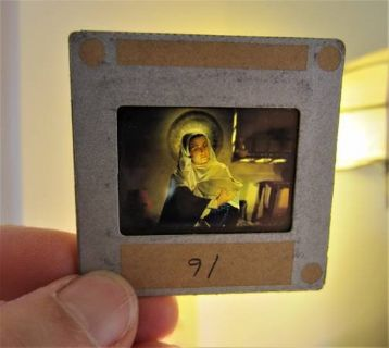 27 CHRISTMAS 35mm COLOR GLASS Slides Cathedral Pictures Nativity Story
