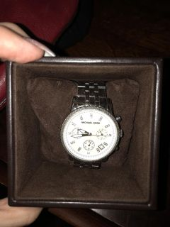 Michael Kors watch with diamond accents