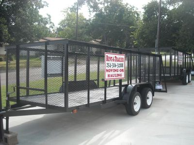 rental trailers moving or hauling