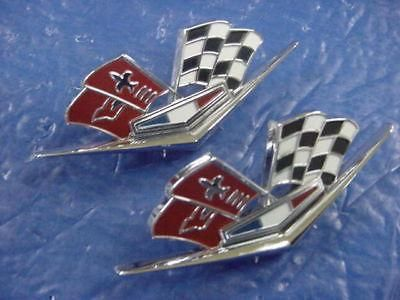 Find Chevrolet Corvette 1964-66 NOS Fender Cross Flags motorcycle in Girard, Ohio, US, for US $9.99