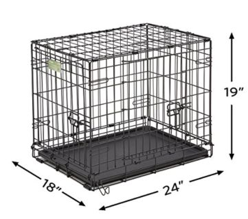 24 inch two doors Dog Crate