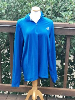 Women s Adidas Plus Size Blue Athletic Pullover - Sz XXL