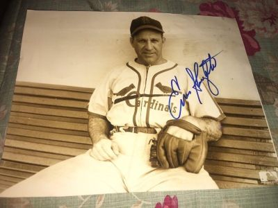 Authentic Enos Slaughter Signed 8X10 Glossy Photo