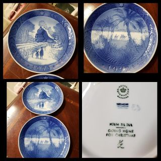 2 Vintage Collectible Plates